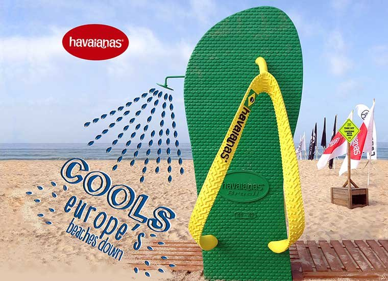 HAVAIANAS COOLS EUROPE'S BEACHES DOWN